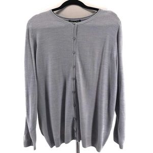 Cable & Gauge Gray Button Cardigan- NWT